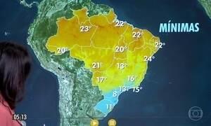 Confira a previsão do tempo para a terça-feira (13)