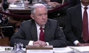 Secretário de Justiça presta depoimento ao Comitê de Inteligência do Senado americano