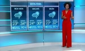 Previsão é de chuva para diversas regiões nesta sexta-feira (16)