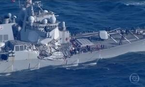 Sete militares americanos estão desaparecidos após navio bater em cargueiro filipino