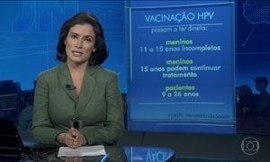 Vacina contra HPV passa a incluir meninos de 11 a 15 anos incompletos