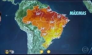 Previsão é de chuva no litoral do Nordeste