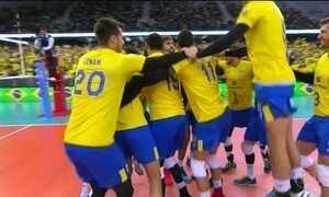 Brasil conquista a vaga para a final da Liga Mundial de Vôlei
