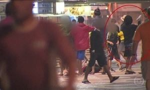 Moradores de Copacabana, no RJ, assistem à mais uma cena de violência urbana