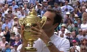 Federer conquista pela 8ª vez o torneio de Wimbledon
