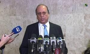 Temer recebe o governador do RJ, Luiz Fernando Pezão para falar sobre segurança pública