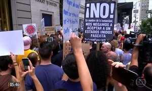 Donald Trump condena responsáveis pelos protestos na Virginia, nos EUA