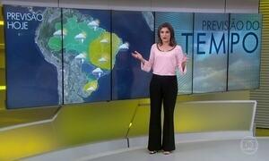 Previsão é de chuva em trechos do Sul e do Sudeste