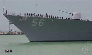 Marinha dos EUA suspende atividades em águas internacionais