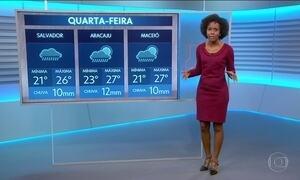 Bahia sofre com frente fria que atinge a região