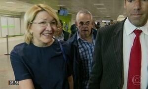 Ex-procuradora-geral da Venezuela chega ao Brasil