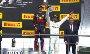 Lewis Hamilton vence na Bélgica e diminui vantagem de Vettel na liderança