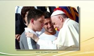 Papa recebe jogadores da Chapecoense no Vaticano