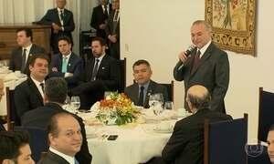 Temer recebe no Palácio da Alvorada ministros e líderes da base aliada na Câmara