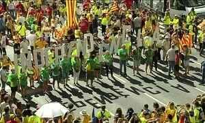Começa a campanha de votação de independência da Catalunha em relação à Espanha