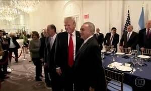 Em Nova York, Trump convida Temer para jantar e falar sobre Venezuela