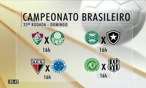 Confira as partidas da 25ª rodada do Brasileirão