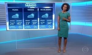 Veja a previsão do tempo para o fim de semana no Brasil