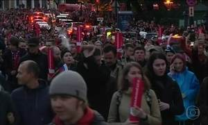 Mais de 250 pessoas são presas em manifestações na Rússia