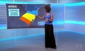 Veja a previsão do tempo para terça-feira (17) no Brasil
