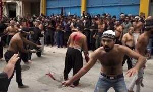 Xiitas celebram dia de Ashura com autoflagelo na Grécia