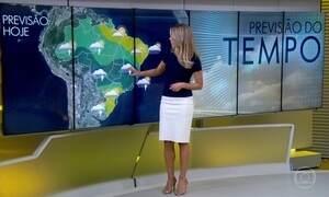 Meteorologia alerta para chuva no Espírito Santo, Minas e sul da Bahia