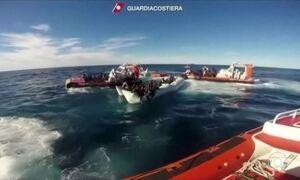Guarda Costeira da Itália resgata 84 imigrantes no Mar Mediterrâneo