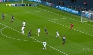 No campeonato francês, o PSG ganha do Dijon 8 a 0, com metade dos gols de Neymar