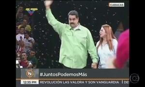 Maduro participa do primeiro compromisso de campanha