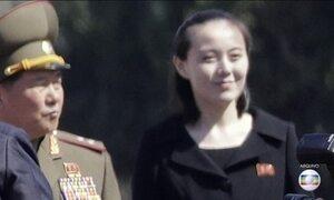 Irmã de líder da Coreia do Norte vai viajar para a Coreia do Sul