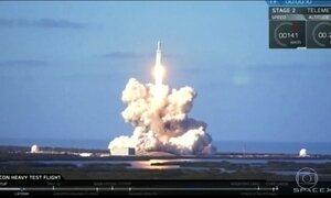 Empresário aposta em nova corrida espacial depois do lançamento do foguete Falcon Heavy
