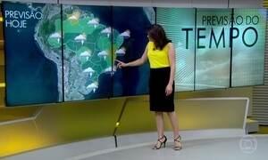 Previsão é de chuva forte em São Paulo, no Rio de Janeiro e em Belo Horizonte
