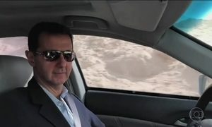 Ditador sírio visita arredores de Damasco para provar que área está segura