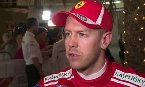 Sebastian Vettel vai largar na frente no GP do Barein de Fórmula 1