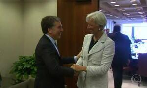 Ministro argentino se encontra com diretora do FMI para discutir socorro ao país