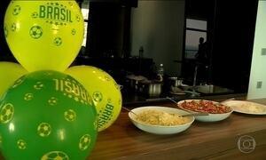 Famílias de jogadores da Seleção se reúnem para feijoada na Rússia