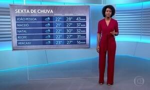 Maju Coutinho apresenta a previsão do tempo para sexta-feira (6)