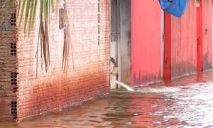 Chuva provoca estragos em Touros, no Rio Grande do Norte