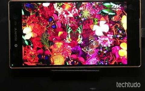 Testamos a tela 4K do Xperia Z5 Premium