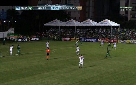 Fora de casa, Goiás perde  por 2 a 1 para a  Aparecidense no Goiano