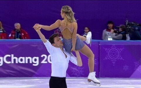 Dupla canadense tira 198.11 na final da patinação artística (reprodução/vídeo)
