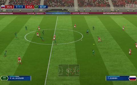 Simulação da Copa - Rússia X Arábia Saudita