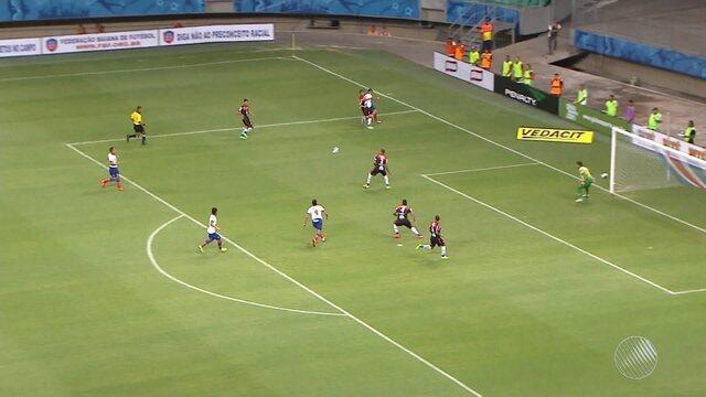 Bahia desperdiça chances e fica só  no 0 a 0 em jogo contra o Paraná