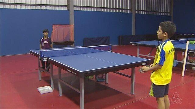 Dupla do AP de tênis de mesa surpreenderam em semana de treinamento em São Paulo