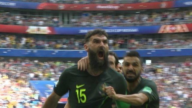 Os gols de Dinamarca 1 x 1 Austrália pela 2ª rodada da Copa do Mundo