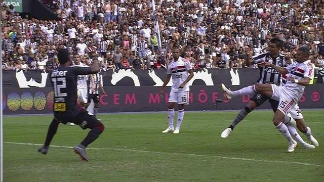 Os gols de Botafogo 2 x 2 São Paulo pela 27ª rodada do Brasileirão