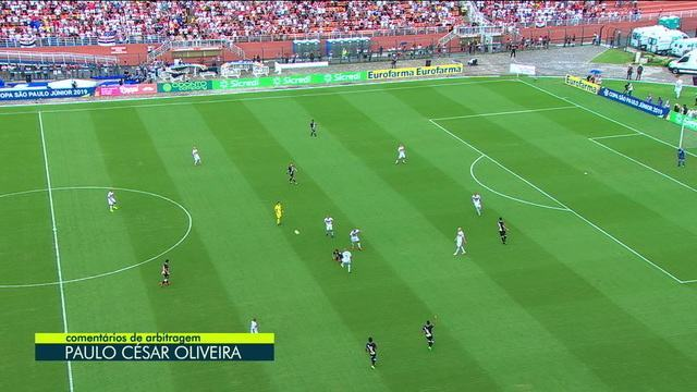 Central do Apito mostra a disputa de bola na origem do gol do São Paulo