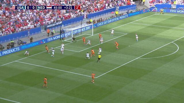 Holanda pressiona no fim do 1º tempo, mas não consegue concluir