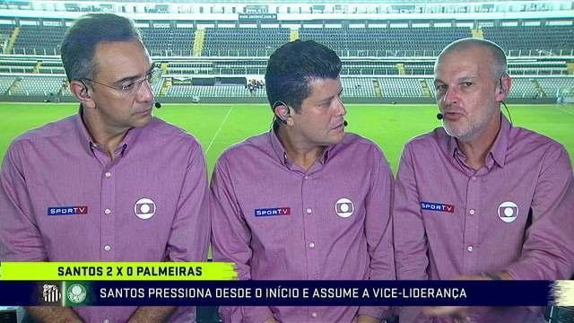 Comentaristas analisam vitória do Santos por 2 a 0 em cima do Palmeiras