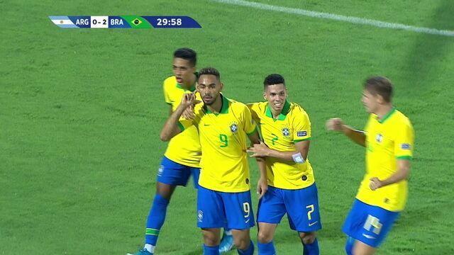 Os gols de Argentina 0 x 3 Brasil pela quadrangular final do pré olímpico